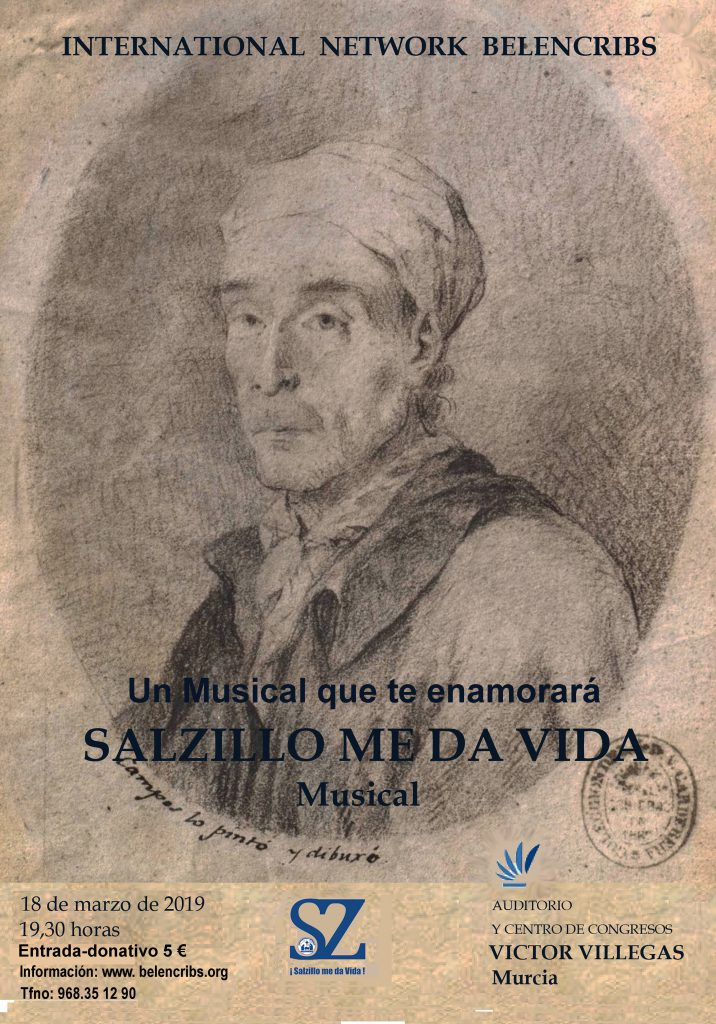 Musical Salzillo Me Da Vida - Cartel carboncillo